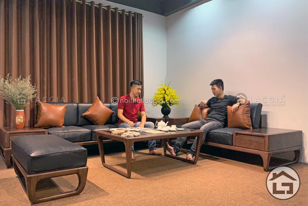 sofa go cao cap sf26 1 17 - Vẻ đẹp và lợi ích của bộ ghế sofa gỗ cho nội thất phòng khách