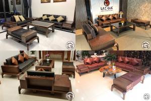 Các mẫu sofa gỗ cao cấp SF10 với chất liệu gỗ óc chó