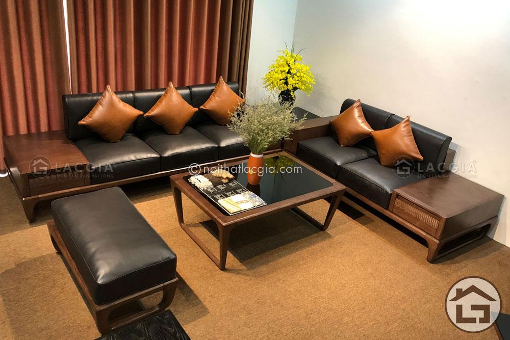 Sofa gỗ sồi Nga cao cấp tại Hà Nội