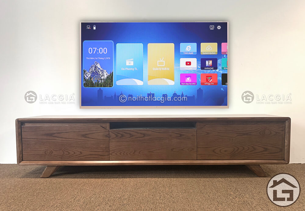 Kệ tivi gỗ đẹp cho phòng khách hiện đại