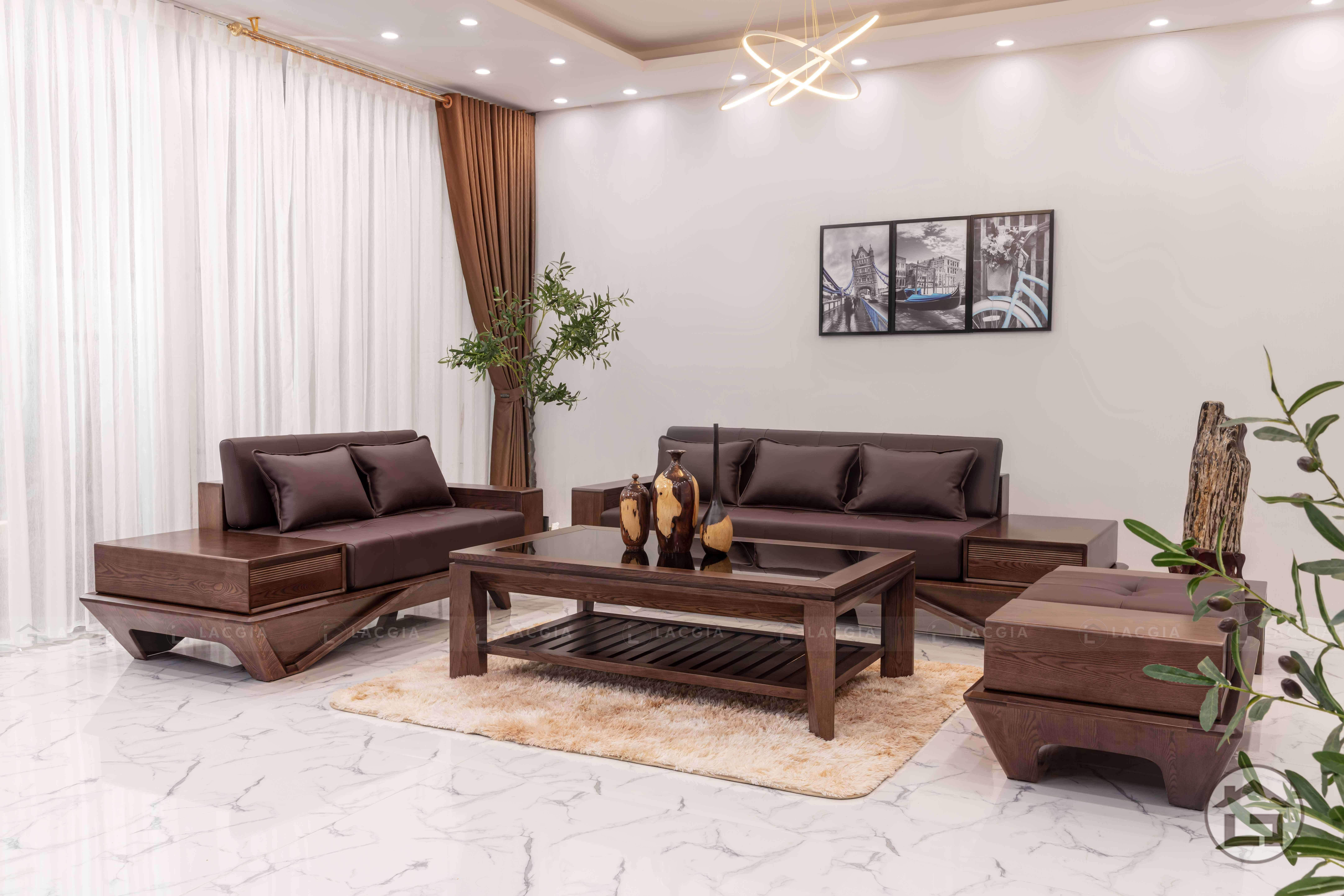 sofa go hien dai sf29 5 - Sofa gỗ hiện đại SF29