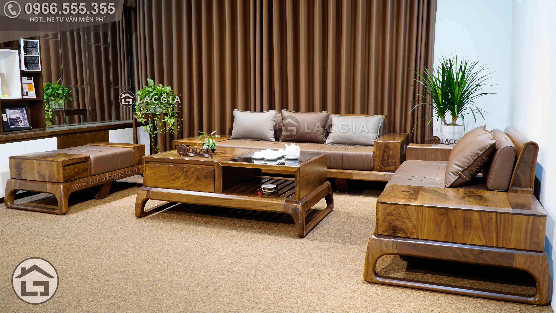 sofa go oc cho sf28 12 - Sofa gỗ óc chó SF28