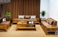 Sofa gỗ óc chó hiện đại cho phòng khách SF28