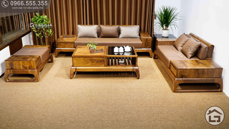 Sofa gỗ óc chó SF28 - dòng sản phẩm chất lượng cao cấp, đẹp mắt đón đầu xu thế trong năm tới
