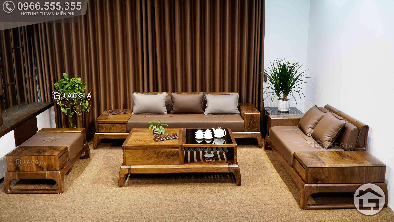 sofa go oc cho sf28 6 - Đón tết hoàn hảo cùng bộ sofa gỗ hiện đại, cao cấp