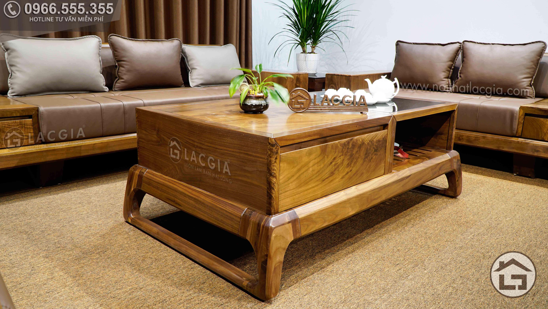 Kích thước bàn trà gỗ hiện đại phù hợp với mọi không gian