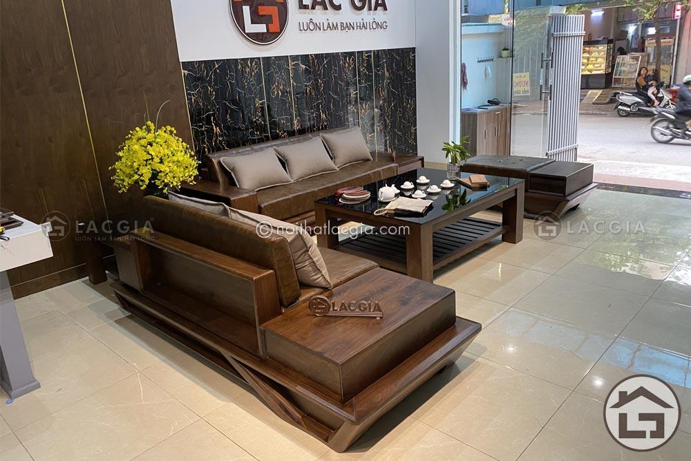 sofa go soi nga sf29 15 - Hướng dẫn vệ sinh, bảo quản bộ sofa gỗ phòng khách đúng cách