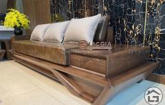 Sofa gỗ hiện đại SF29 chất liệu sồi nga cao cấp đẹp nhất 2020