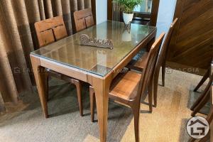 Bàn ghế ăn gỗ sồi cao cấp BA17