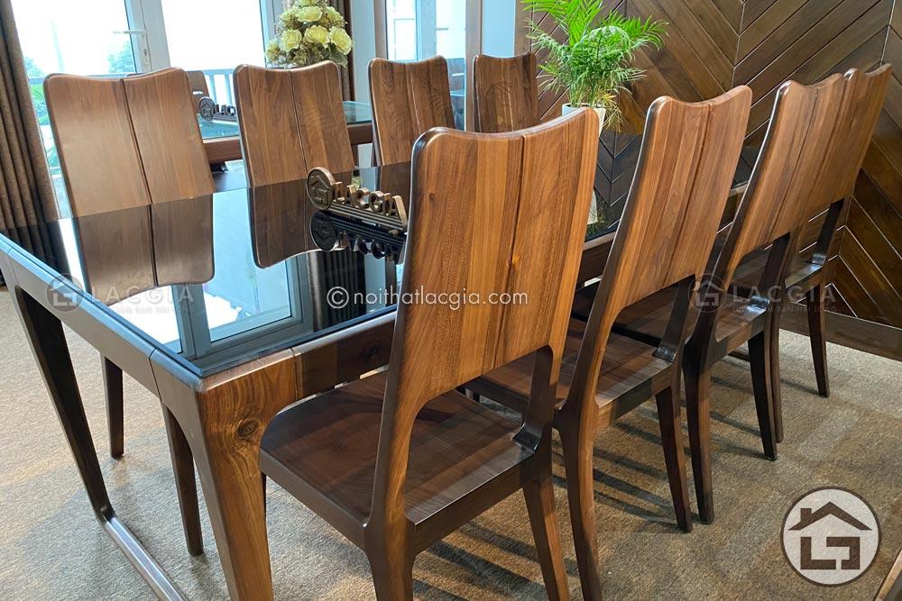 ban ghe an go tu nhien ba18 2 - Những điều cần lưu ý khi chọn mua bàn ăn gỗ công nghiệp