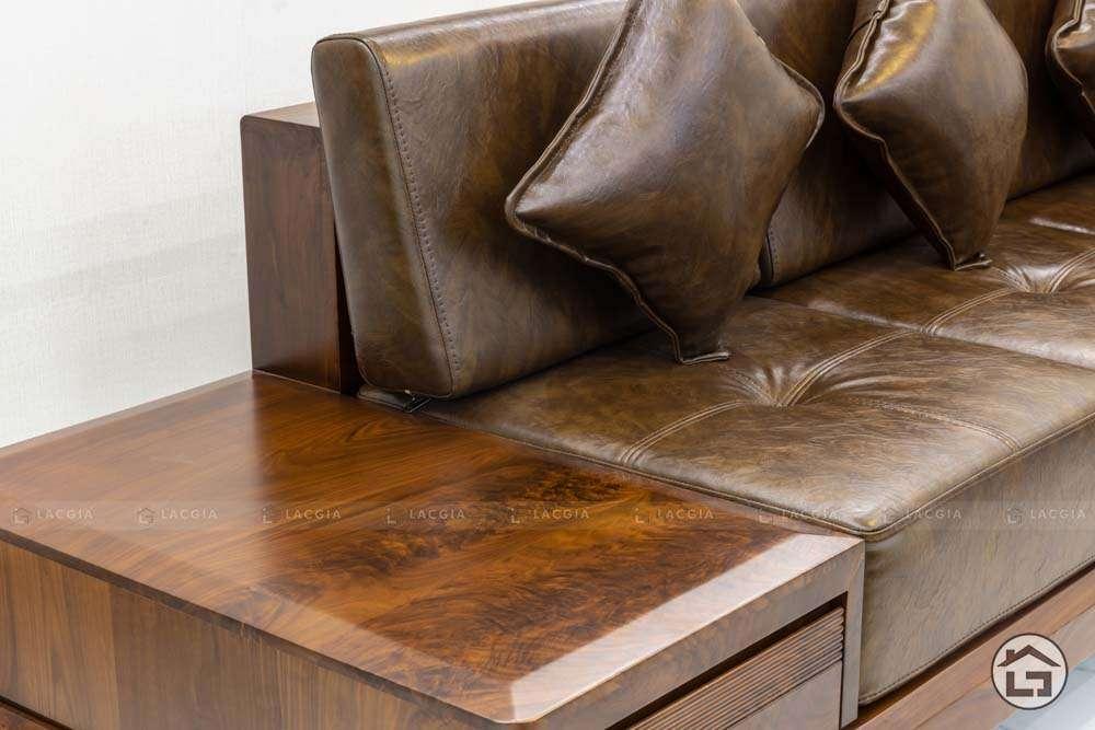 sofa go tu nhien chu l sf30 4 - Sofa gỗ tự nhiên chữ L SF30