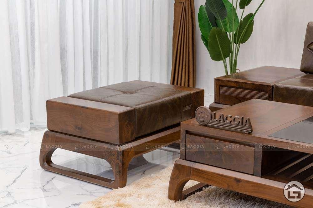 sofa go tu nhien chu l sf30 6 - Sofa gỗ tự nhiên chữ L SF30