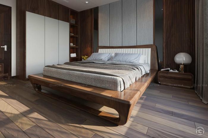 Giường ngủ gỗ óc chó tự nhiên GN18