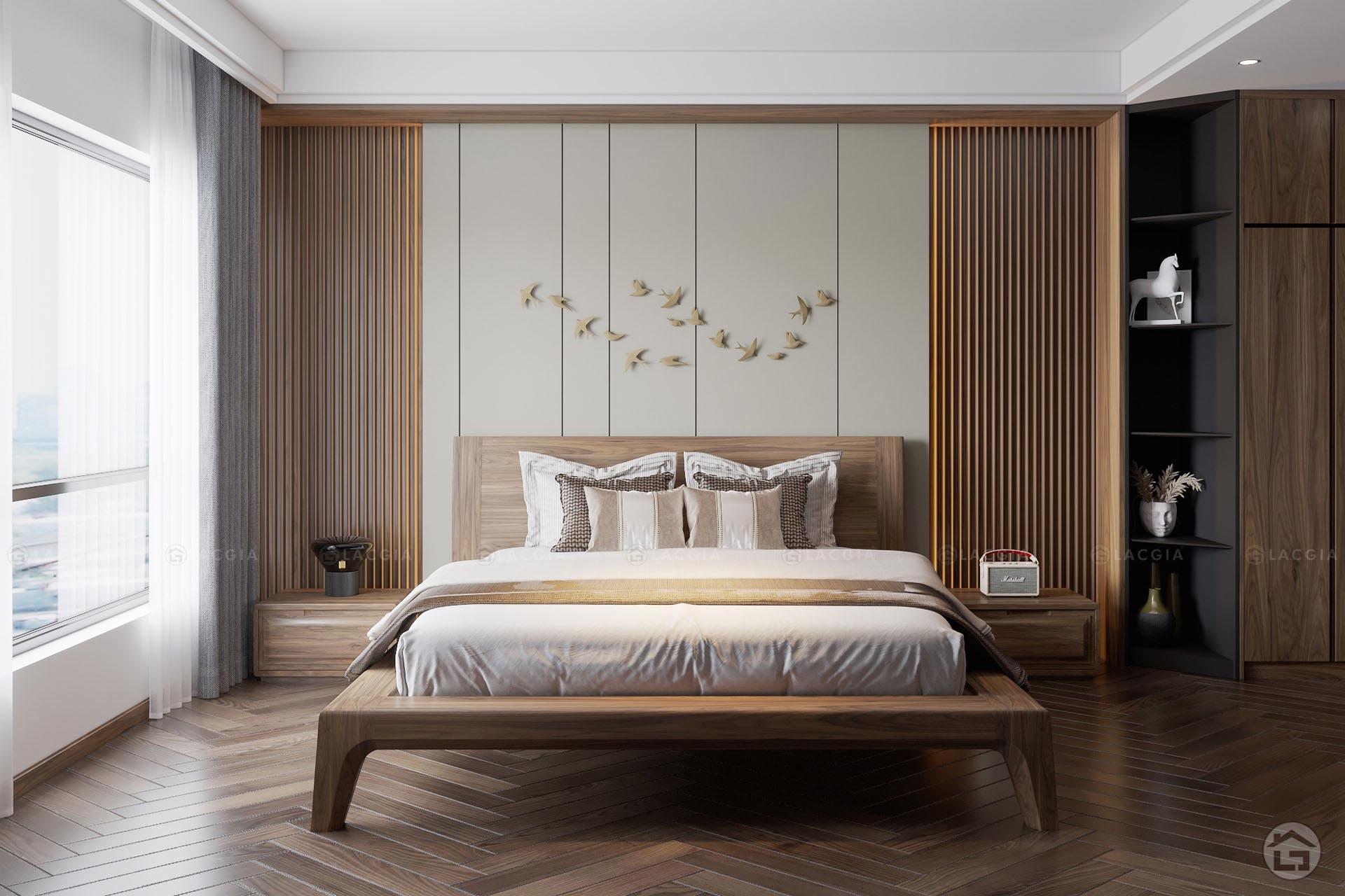 giuong ngu go hien dai gn20 1 - Giường ngủ gỗ hiện đại GN20