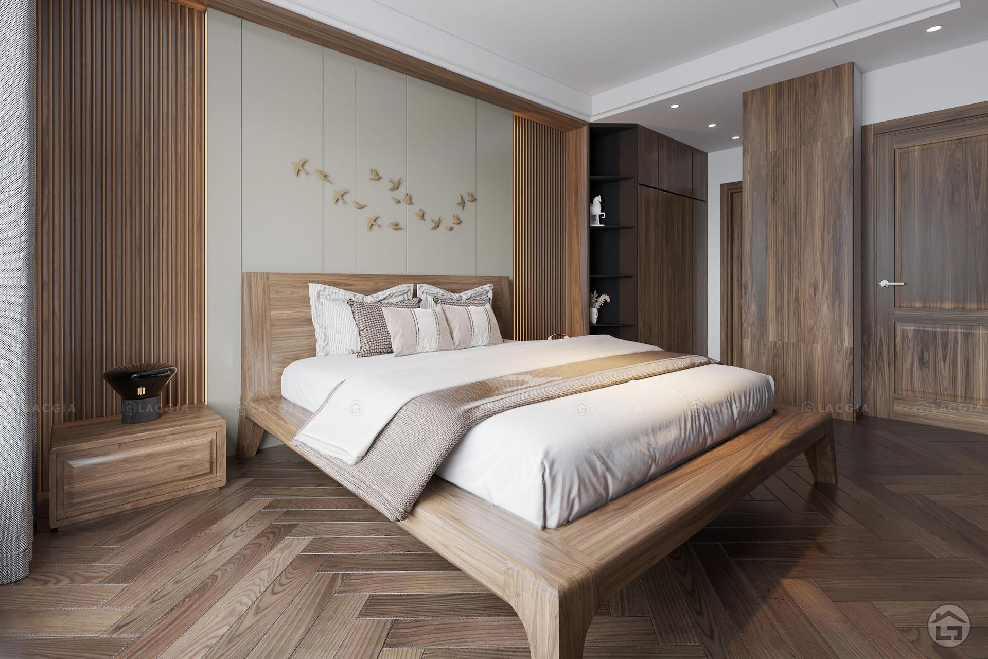 Giường ngủ gỗ hiện đại sang trọng GN20