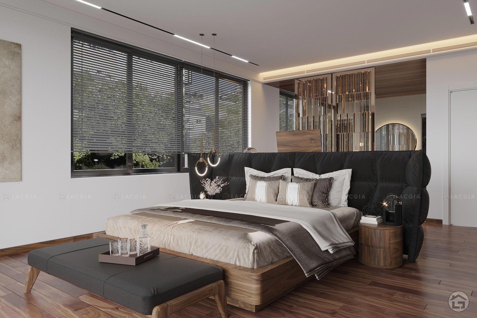 giuong ngu go tu nhien gn22 1 - Giường ngủ gỗ tự nhiên GN22