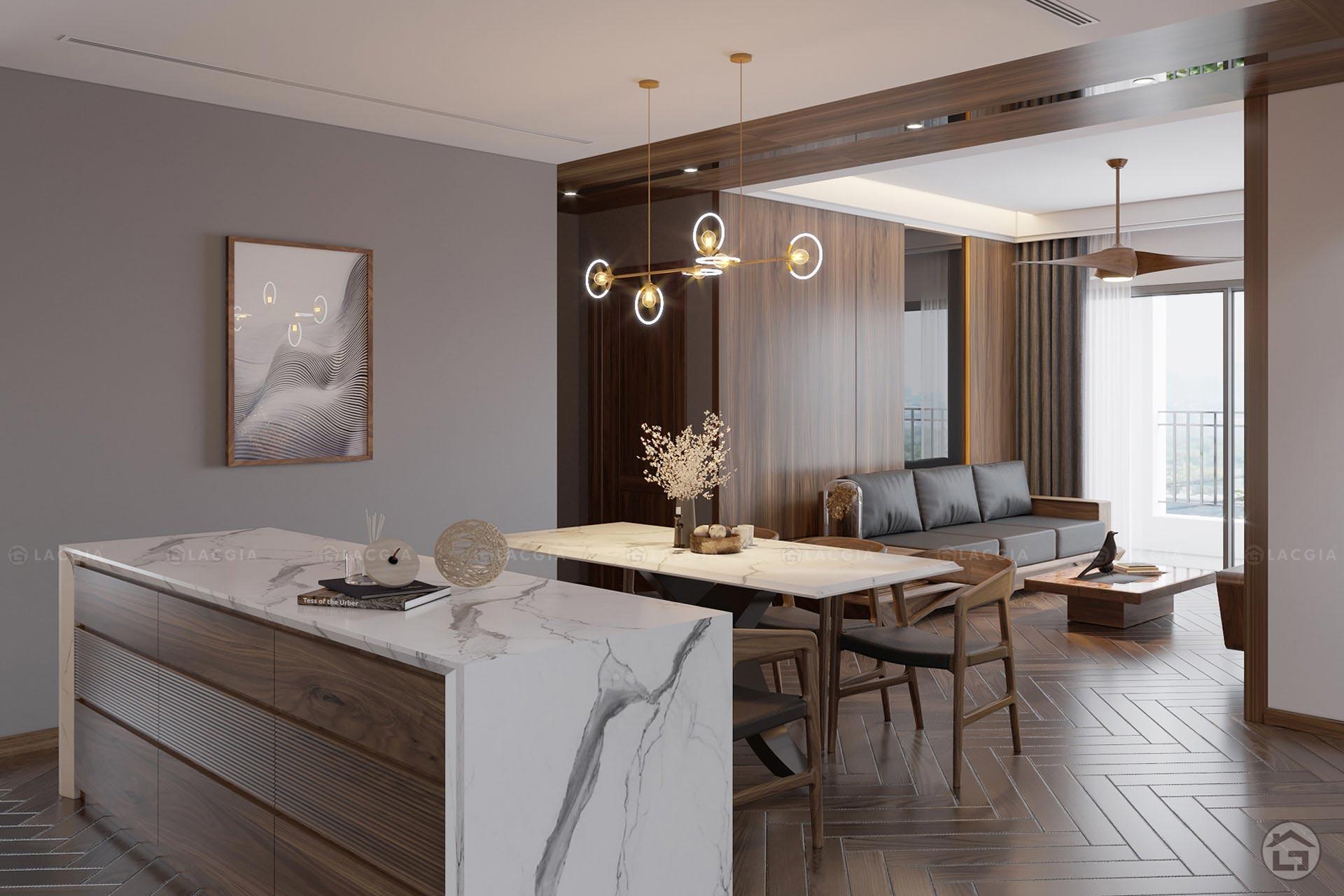 thiet ke noi that chung cu king place 124m2 2 - Thiết kế nội thất chung cư cao cấp King Palace
