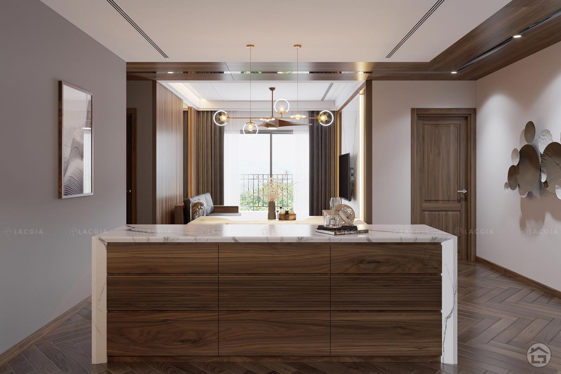 thiet ke noi that chung cu king place 124m2 4 - Thiết kế nội thất chung cư cao cấp King Palace