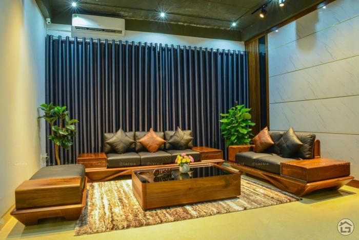 Sofa gỗ óc chó cao cấp SF29 Plus