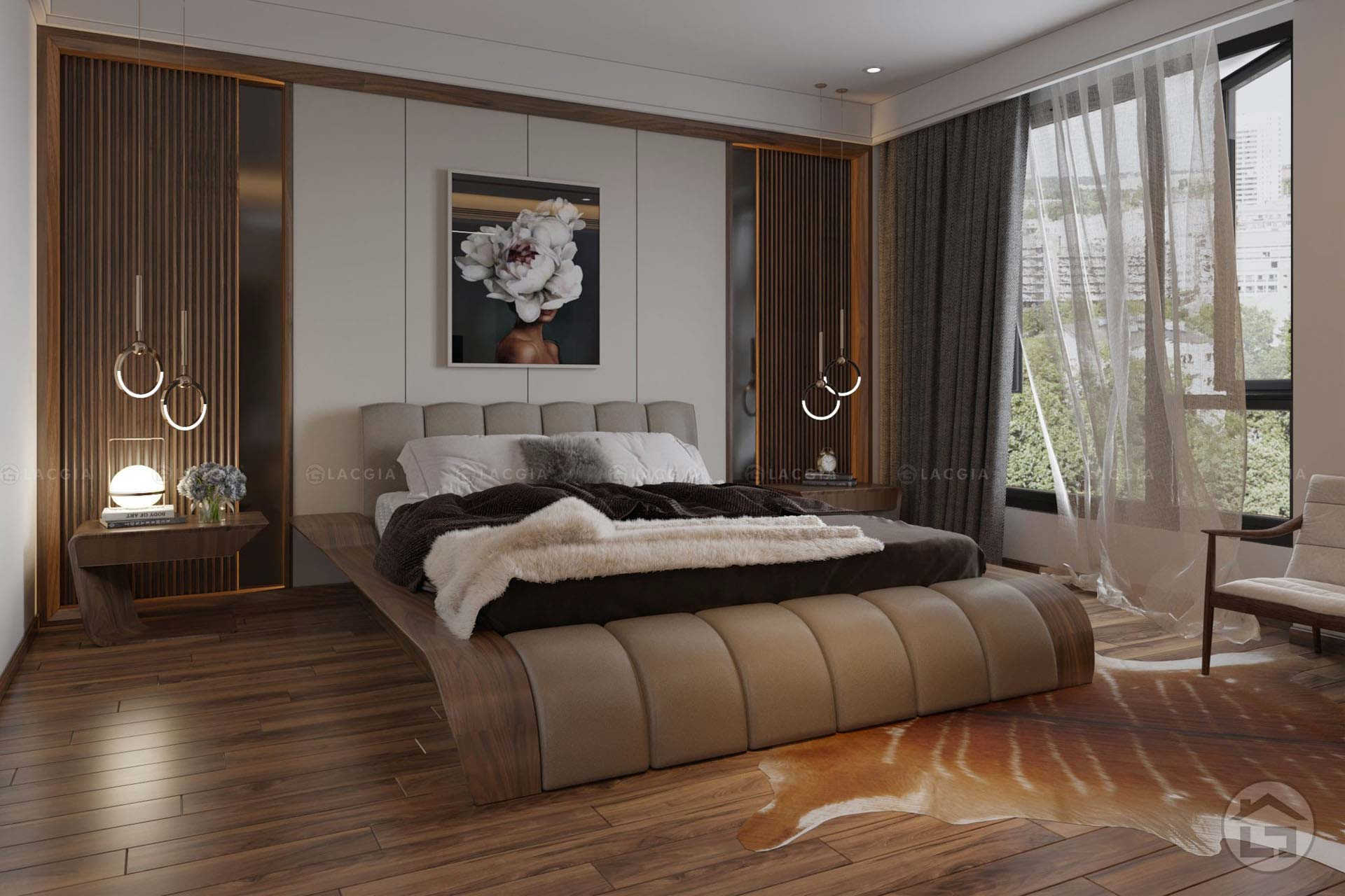 Giường ngủ cao cấp GN23