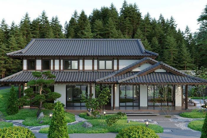 Thiết kế nội thất - kiến trúc biệt thự sân vườn Sóc Sơn